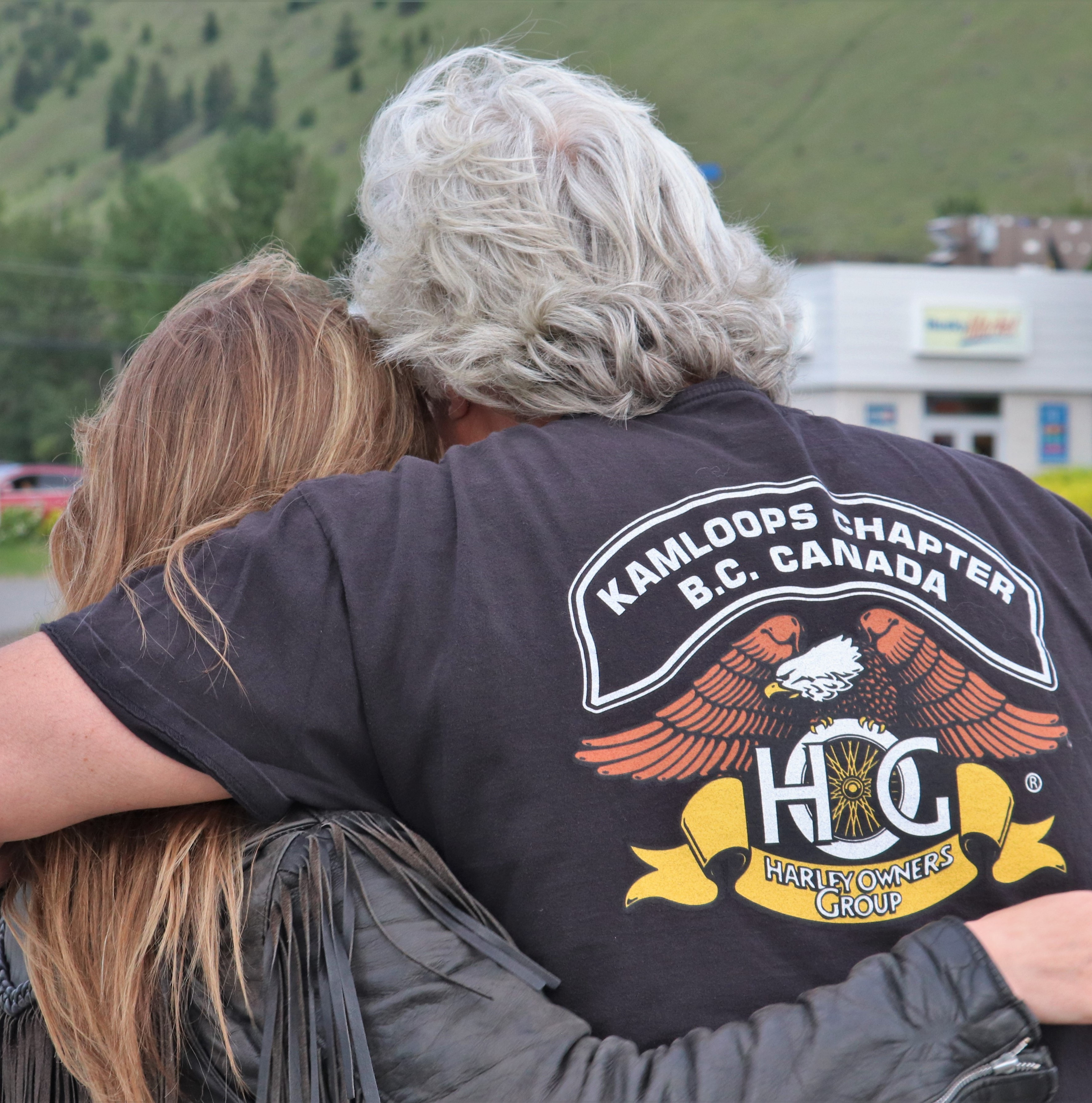 Sandei Marshall died while riding her motorcycle May 13; local riders held a tribute to their fallen colleague  yesterday.