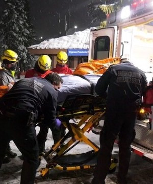 Snowboarder rescued after being swept up in avalanche on Vancouver's North Shore.