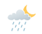 Cloudy with 30 percent chance of showers early this evening then partly cloudy. Wind east 20 km/h becoming light late this evening. Low 9.
